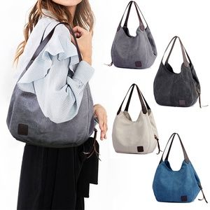 Canvas Totes Shoulder Bags Casual School Handbags